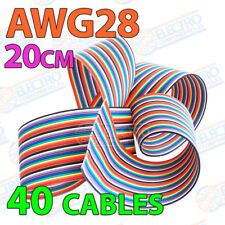 Cable plano AWG28 20cm 40 cables 28awg 40p Colour Flat Ribbon 10 colores