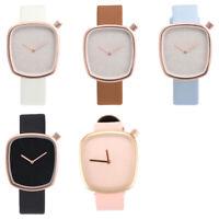 OKTIME Women Fashion Leather Band Analog Quartz Round Wrist Watch Watches(B K5D9