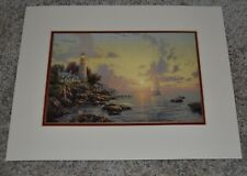 "Thomas Kincade Collector's 1999 ""Sea of Tranquility"" Litho Matted 14"" x 11"" Prin"