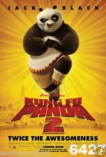 """KUNG FU PANDA 2 """"PANDA STANDING ON ONE FOOT"""" POSTER FROM ASIA-Jack Black (#6427)"""
