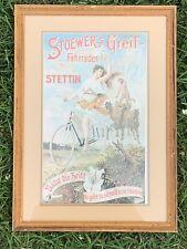 "Stoewer's Greif-Fahrräder Stettin Print 9""x14"" Matted & Framed"