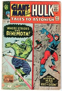 Tales to Astonish #67 Featuring Giant Man & Hulk, Very Good Condition
