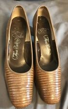 Thos Cort Ltd Vintage Women's Shoes Size 7 High Heels Pumps Reptile Skin Snake