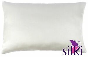 Ivory White 25 momme 100% MULBERRY SILK PILLOWCASE COVER (2sides) Queen Standard