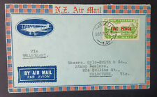 1932 Special Flight Cover..NZ Russell to Whangarei..with Special Red Cachet