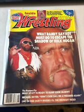 Vintage August 1988 Inside Wrestling Magazine - Hogan & Savage Fair Condition