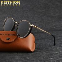 KEITHION Fashion Polarized Sunglasses Women Cat Eye Vintage Retro Round Glasses