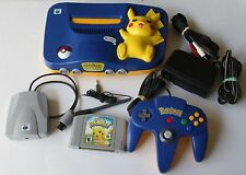 Nintendo 64 N64 Pokemon Pikachu Bundle Official Controller Game Microphone Lot