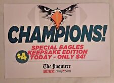 Philadelphia Eagles CHAMPIONS The Inquirer Daily News Poster 11x15