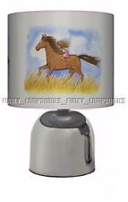 HORSE PONY ☆ PINK BEDSIDE TOUCH LAMP ☆ GIRLS NIGHT LIGHT ☆ MATCHES DUVET