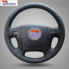 BANNIS Black Leather Steering Wheel Cover for Hyundai Santa Fe 2006-2012
