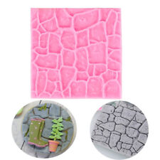 3D Castle Farm Wall Rock Stone Silicone Fondant Mold Chocolate Cake Baking Mould
