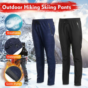 Men & Women Winter Warm Thick Trousers Slim Stretchy Thermal Pants Outdoor L~5XL