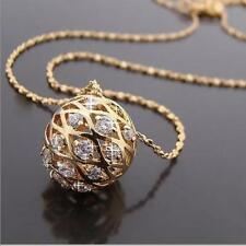 18ct Gold Plated Chain Necklace with Swarovski elements Pendants gift for her