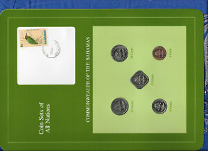 Coin Sets of All Nations Bahamas w/card 1987-1992 UNC 15 cent 92 25 cents 1991