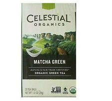 Celestial Tea Organic Matcha Green Tea, 20 Bags W Caffeine BEST BY 5/30/2019