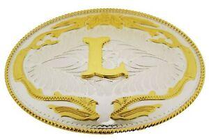 Initial Letter L Belt Buckle Western Rodeo Cowboy hebilla de cinturón inicial