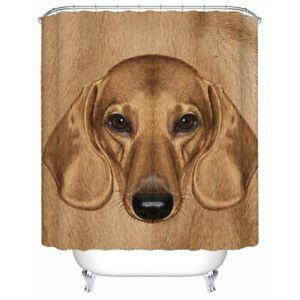 Dachshund Brown Pet Dog Animal Modern Bathroom Waterproof Bath Shower Curtain