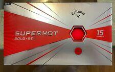 New listing Callaway Golf SuperHot Bold Matte Golf Balls Red 2 packs (30 balls)