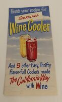 MCM Wine Advisory Board Sparkling Wine Cooler Recipes San Francisco Bay Area c.