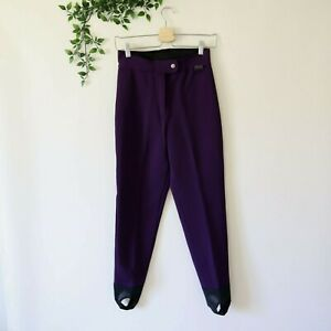 Edelweiss Skiwear Women's Wool Nylon Blend Stir Up Ski Snow Pants Size 8 Purple