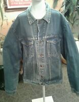 Vintage Men's WRANGLER AUTHENTIC WESTERN Jean Jacket sz XXL Cowboy Trucker