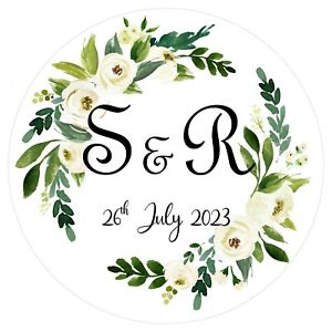 Personalised Wedding Stickers Favour Labels (A-010)