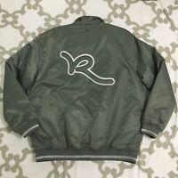 Rocawear Roc Denim Company Men's Logo Bomber Nylon Jacket Size 2XL
