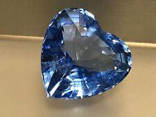 Swarovski Figur Herz Blau 4,5 cm. Top Zustand.