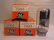 Lot Of 3 GE General Electric 17AX3 Compactron Electronic Vacuum Tubes NOS