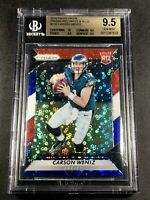 CARSON WENTZ 2016 PANINI PRIZM #218 RED WHITE BLUE REFRACTOR RC ALL BGS 9.5 10