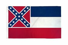 "Mississippi State Original 3' x 5' 100 denier Quality Flag Poly ""Usa Seller"""