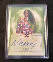 Naomi 2017 WWE Topps Undisputed On Card Autograph Green 02/25 Auto