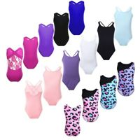 Girls Sleeveless One-piece Gymnastics Leotard Ballet Dance Unitard Tank Bodysuit