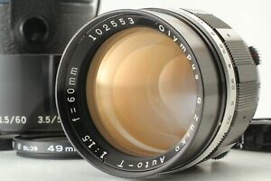 【N MINT w/ Hood】 Olympus G Zuiko Auto T 60mm f/1.5 Lens for Pen F FT FV  JAPAN