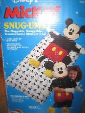 Vintage Disney Mickey Mouse Stuffed Animal child toddler sleeping bag Snugums