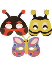 3x KIDS INSECT BEE ANIMAL MASK FOAM EVA FANCY DRESS PARTY BAG FILLERS TOYS UK
