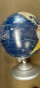 VINTAGE REPLOGLE GLOBEMASTER ,12 INCH DIAMETER GLOBE, DARK BLUE, METAL BASE