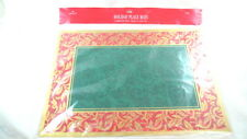 8 Hallmark Christmas Paper Placemats Red Gold Green NEW IN WRAP