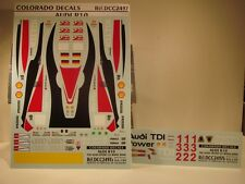 DECALS 1/24 AUDI R10 TDI  LE MANS 2008  - COLORADO  2497
