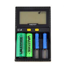 LCD Intelligent Akku Ladegerät für Li-ion 18650 26650 AAA AA 14500 16340 Akkru