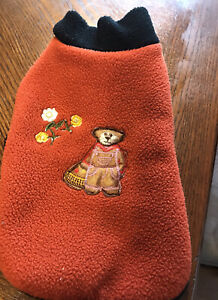 Small Pet Dog Warm Fleece  Hand Made Vest Coat Winter Apparel Clothes