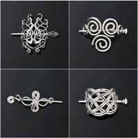New Large Celtics Knots Crown Women Hairpins Hair Clips Stick Slide Accessories-