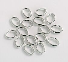 Sterling Silver 925 Heavy Oval Open Jump Rings 3.5,4,5,6,7,8,9,10mm Bead Finding