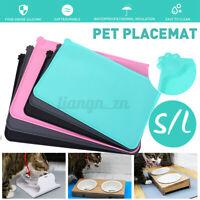Car Silicone Pet Mat Waterproof Dog Cat Food Bowl Drinking Pad Feeding Placemat