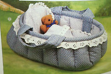 Dolls Carrycot and Teddy Toy Sewing Pattern