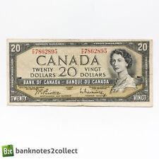 CANADA: 1 x 20 Canadian Dollar Banknote. 1954.