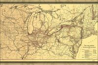 Poster, Many Sizes; Map New York Central Hudson River Railroad 1900