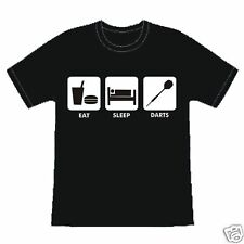 EAT SLEEP DARTS FUNNY SLOGAN BIRTHDAY T-SHIRT