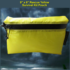 9 X 6 Rescue Yellow Ultralight Survival Kit Pouch